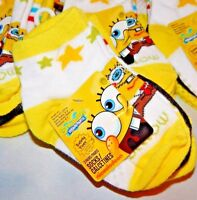 Spongebob Squarepants 3 Pair Per Pack Toddler Socks Sz 2-4 Shoe Sz 4-7