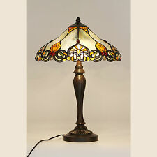 RHULEMANN LARGE TIFFANY STYLE TABLE LAMP LEAD LIGHT - WILL SHIP AUSTRALIA WIDE
