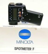 MINOLTA SPOTMETER F. MINT, BOXED. PERFECT CONDITION. LOOKS  NEW.