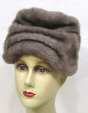 Vintage Womens Hat Roberta Bernays Faux Fur Turban 1960s