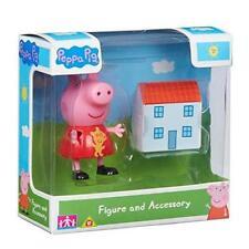 Nuevo paquete de accesorios de PEPPA PIG Figura & Peppa Y Casa De Muñecas