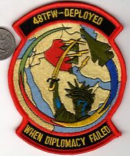 Iraq War 48TFW Squadron Patch Statue of Liberty Air Force Tactical Fighter Wing