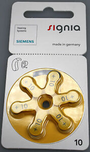 Siemens Hörgerätebatterien 10er