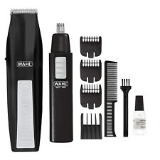 Wahl Beard Trimmer Mens Cordless Battery Hair Shaver Ear Nose Brows Grooming Set