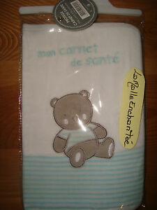 Protection Book of Health Bear Cub Blue White New