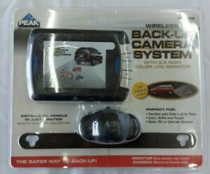 Peak Performance Wireless Back Up Camera System 3.5 Inch Screen New Sealed