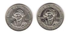 TWO TURKEY 2002 1.000.000 LIRA YUNUS EMRE COMMEMORATIVE CUPRO-NICKEL COINS