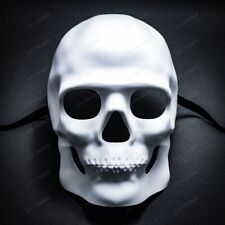 Halloween Full Face White Skull Mask For Cosplay Costume Masquerade Mask Party