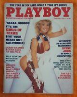 PLAYBOY MENS MAGAZINE FEBRUARY 1985 CHERIE WITTER GIRLS OF TEXAS STEVE JOBS