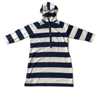 Preowned- Gap Body Striped Hoodie Shirt Dress Womens (Size S)