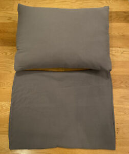 2 Grey Padded Standard Shams