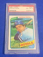 1980 Topps Freddie Patek Kansas City Royals #705 PSA 8 NM-MT SET BREAK