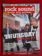 rivista ROCK SOUND 70/2004  POSTER Korn Snapcase Thursday Slipknot Incubus No cd