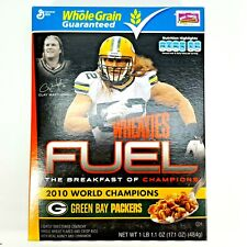 Sealed Wheaties Fuel 2010 World Champions Clay Matthews Green Bay Cereal Box