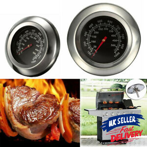 50-500℃ Grill Thermometer Smoker Temperature Barbecue BBQ Gauge Stainless Steel