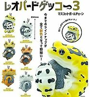 (Capsule toy) Common leopard gecko mascot ball chain [all 6 sets (Full comp)]