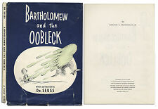 New listing Dr. Seuss ''Bartholomew and the Oobleck'' First Printing