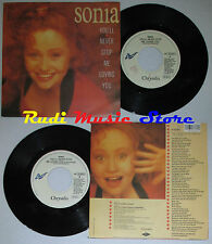 LP 45 7'' SONIA You'll never stop me loving you 1989 italy CHRYSALIS cd mc dvd *