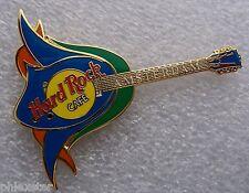 AMSTERDAM DUTCH BLUE TULIP OPENED FLOWER GUITAR Hard Rock Cafe PIN TAC BACK LE