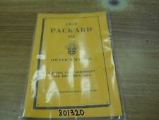 Packard Six 1939, Owners Manual, Very Nice !