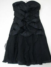 Jane Norman Bodycon Strapless Mini Dress with Ruffle Skirt and Silk Details S: 8