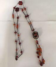 Women's Chico's Glass & Plastic Beaded Costume Necklace