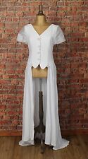 Genuine Vintage Wedding Coat Dress 80s Retro Victorian Edwardian Style UK 10