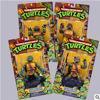 4PCS Teenage Mutant Ninja Turtle Figures Anime Toys Leonardo Action