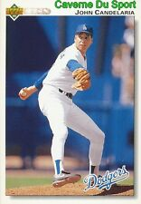 482 JOHN CANDELARIA LOS ANGELES DODGERS  BASEBALL CARD UPPER DECK 1992