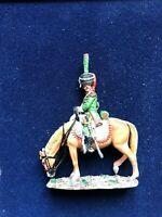 SOLDAT DE PLOMB CAVALIER EMPIRE 2ème REGIMENT DE  ITALIE 1812