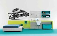Wall Vinyl Sticker Decal Mural Design Cool Sport Bike Biker Making Wheely #954