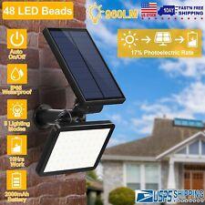 Outdoor 48LED Solar Power Spotlight Garden Lawn Lamp Waterproof Landscape Lights