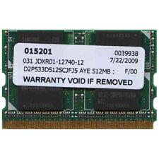 512 MB PC2-4200 DDR2-533 533 MHz Laptop RAM MicroDIMM D2P533D512SCJFJ5