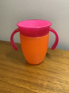 Munchkin Miracle 360 Trainer Cup, 2 Toned Color 7 Oz-Spill Proof Baby Sip Orange