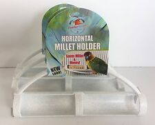 FeatherSmart (3 pack) Bird Millet Holder Lovebird Cockatiel Sm Conure Parakeet