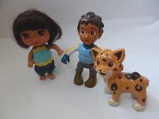 Dora the Explorer hard plastic doll figures, Mattel
