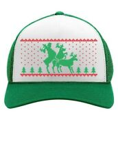 Funny Humping Reindeer Ugly Christmas Trucker Hat Mesh Cap Gift Idea