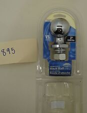 """NOS 2"""" Two Inch Chrome Plated Hitch Ball 7-0146 #895-T19-B"""