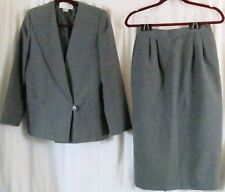 Casual Corner Petite Skirt Suit P Blue Wear to Work