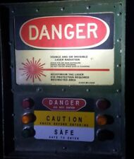 US Military Laser Warning Light sign