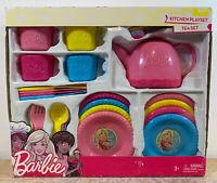 Mattel Barbie Kitchen 29 Piece Tea Playset New