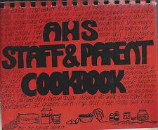 *AMES IA 1989 AHS HIGH SCHOOL STAFF & PARENT COOK BOOK *IOWA COMMUNITY RECIPES