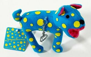 YAYOI KUSAMA 'Toko-Ton Dog' Art Plush Handbag Charm, Phone Strap, Keychain *NWT*
