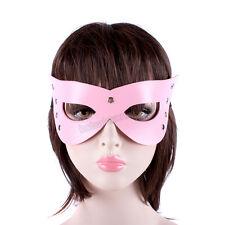 Sexy PVC Leather Studded Mask Party eye Patch Fancy Blindfold Pink