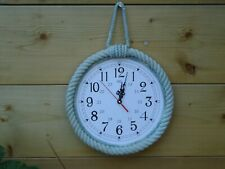 Nautical Rope Clock - maritime Seaside Ship Boat Beach Sea Nice Size Gift