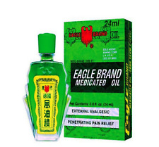 12 x Eagle Brand Medicated Oil DAU GIO XANH CON O For Aches Sprains Pain 24ml