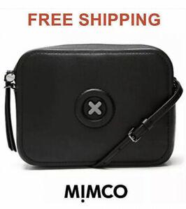 MIMCO Daydream Hand Bag Black Hip Handbag Cross Body GUNMETAL BNWT RRP$199 New