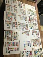 Malaysia  Malay States stamps. 20 leaves dif collections #9 + loose overprints