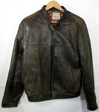 """Vintage Mens 1960s Brown Nottingham Leather Jacket SMALL (Chest 38"""") made UK"""