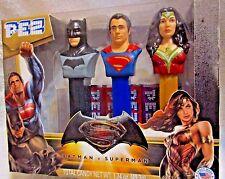 BATMAN V SUPERMAN: DAWN OF JUSTICE PEZ COLLECTORS BOX SET OF 3 DC COMICS NEW